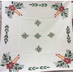 Tablecloth in linen hand-painted