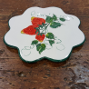 ceramic trivet flower shape decoration strawberries