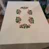 Hand-printed tablecloth with strawberries