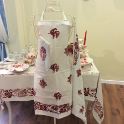linen apron handmade in Italy