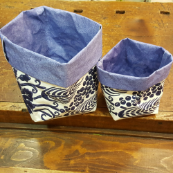 breadbox paper washable color blue