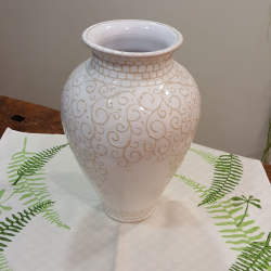 Ceramic vase with embroidery decoration