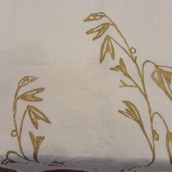 Crumpled natural linen tablecloth Mourous collection