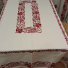 Printed tablecloth from Romagna spiga and grapes