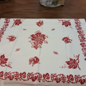 Square printed tablecloth from Romagna in linen blend