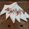 Napkins in linen collection bows and hearts Bertozzi