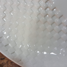 Plate oval in white porcelain imprint checkers