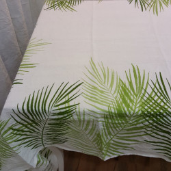 Tablecloth in natural linen...