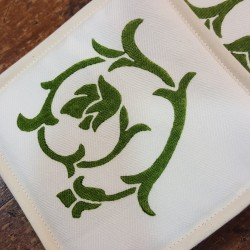 Flower bud printed pot holders