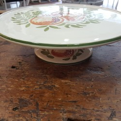 Cake stand in ceramic decorated pomegranate
