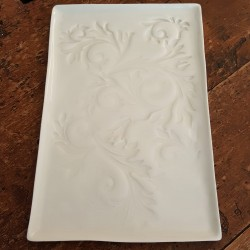 Acanthus collection porcelain tray