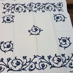Tea towel Placemat Bud printed by hand