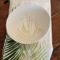 Bowl in porcelain collection Palma
