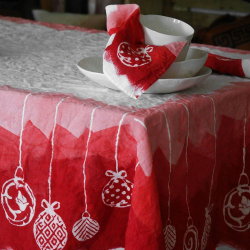 Linen tablecloth christmas collection bartozzi