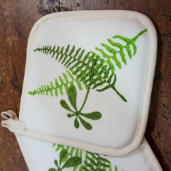 Fern print pot holders