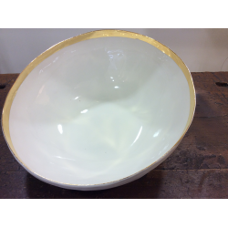 Porcelain bowl with gold rim Bertozzi