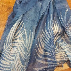 Scarf in silk and linen Bertozzi Palm collection