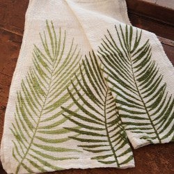 557/5000 Pair of Linen Honeycomb towels 60x110 and 40x60 Palme Collection