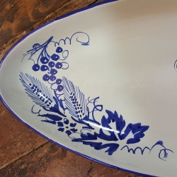 Oval ceramic serving plate Spiga e Uva Collection