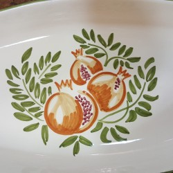Oval ceramic serving plate pomegranate Collection