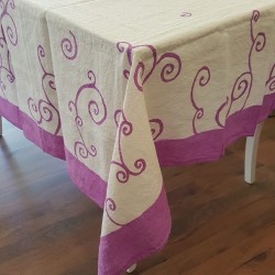 Cyclamen border and curl collection tablecloth 175x175 cm
