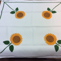 Square Tablecloth with sunflowers print