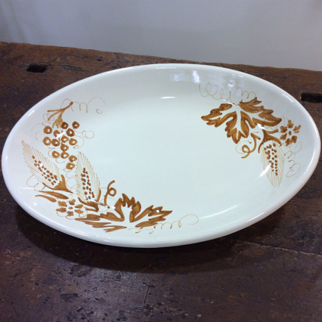 Made in italy Oval serving plate
