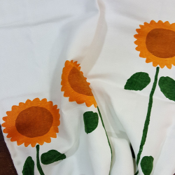 Dusters sunflowers printed by hand