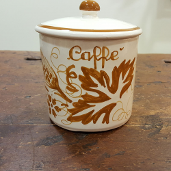 Italian Coffee container in ceramic made in italy