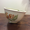 Bowl salad bowl in hand-decorated pottery