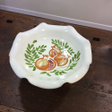 Fruit bowl in hand-decorated pottery