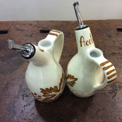 Oil and Vinegar bottles Italian Set