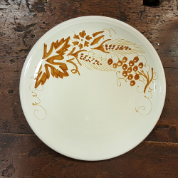 Italian ceramic dinner plate hand-painted