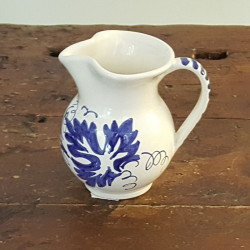 Ceramic wine jug hand-painted