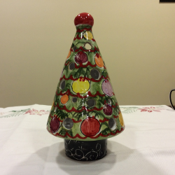 Christmas tree multicolored italian ceramics