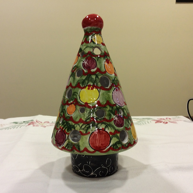 Christmas tree multicolored ceramic