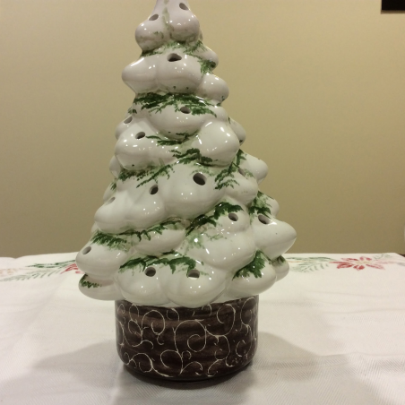 Italian Pottery Christmas Tree White