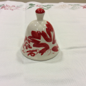 Red bell in ceramics