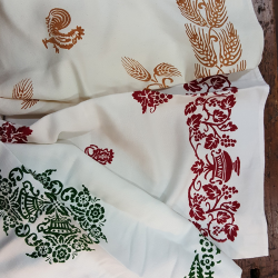 linen dishcloths handprinted