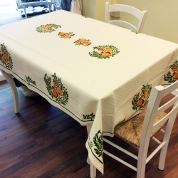 Italian tablecloth hand-printed