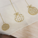 Christmas tablecloth gold decoration
