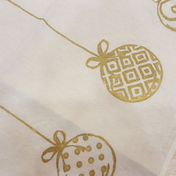 Placemat Christmas decoration gold