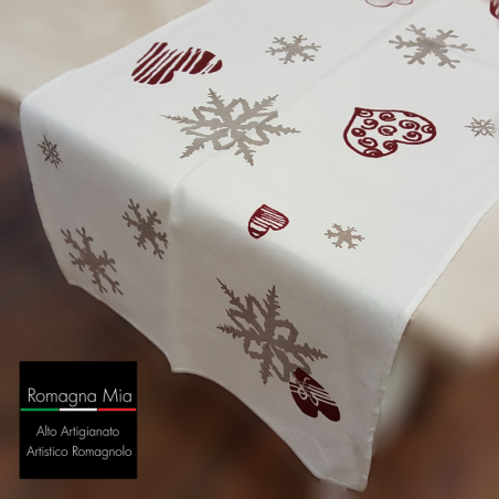 Italian Table Runner Flakes and Hearts