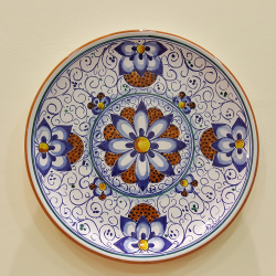 Ceramic plate decoration Palmetto Faenza