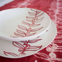 Porcelain plates collection naturalia