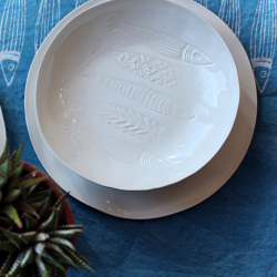 Set of porcelain plates collection panarea