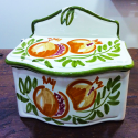 Rock Salt container hand-painted