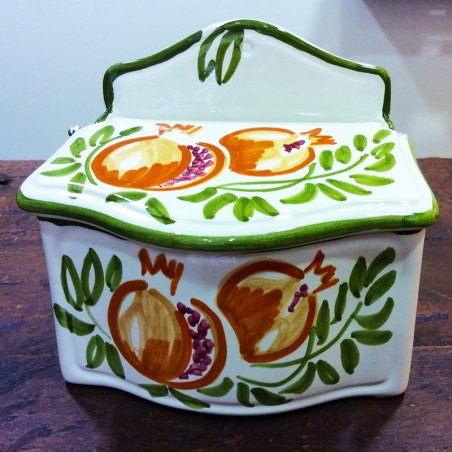 Rock Salt container hand-painted.