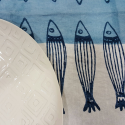 Italian Table Runner sardines print collection Panarea