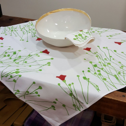 Italian tablecloth tulips print